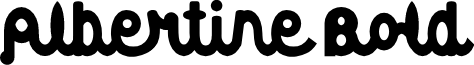 Albertine Bold font
