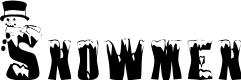 Preview image for AL Snowmen Font