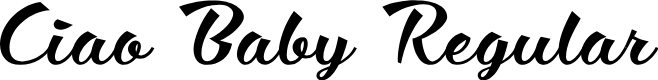 Preview image for Ciao Baby Regular Font