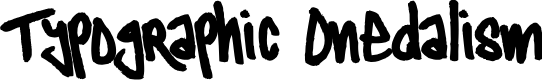 Preview image for Typographic Onedalism Font