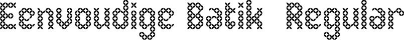 Preview image for Eenvoudige Batik  Regular Font