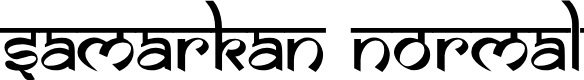 Preview image for Samarkan Normal Font