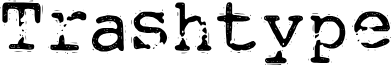 DKTrashtype font
