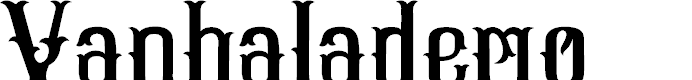Preview image for Vanhala-demo Font