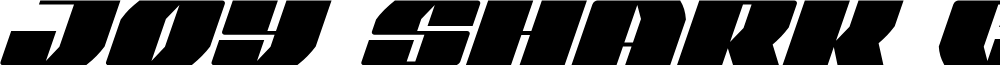 Joy Shark Condensed Italic