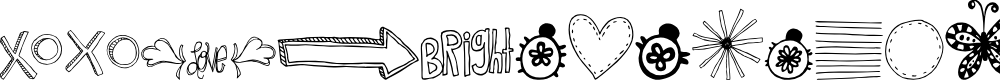 Preview image for MTF Doodlewhats Font