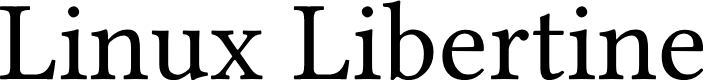 Preview image for Linux Libertine Font