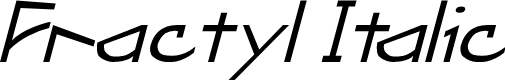 Preview image for Fractyl Italic