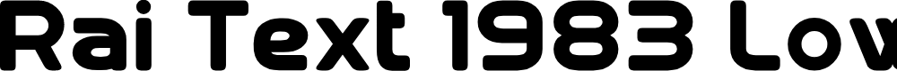 Preview image for Rai Text 1983 Lowercase Font