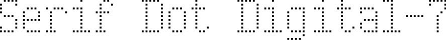 Preview image for Serif Dot Digital-7 Font