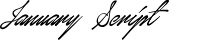 Preview image for January Script Personal Use Font