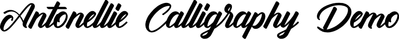 Preview image for Antonellie Calligraphy Demo Font