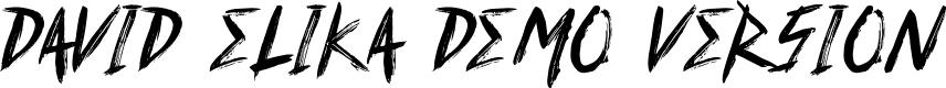 Preview image for David Elika Demo Version Font