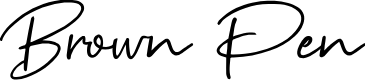 Preview image for Brown Pen Font