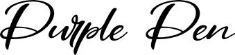 Preview image for Purple Pen Font
