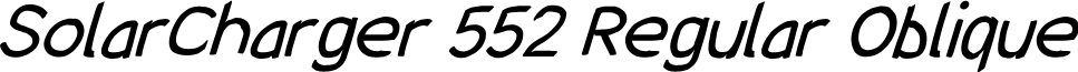 SolarCharger 552 Regular Oblique