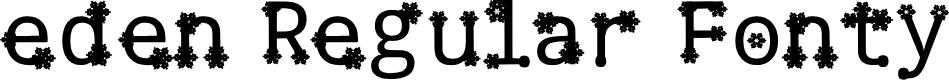 Preview image for eden Regular Fonty Font