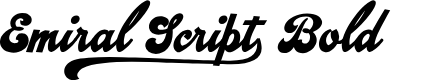 Preview image for Emiral Script Bold PERSONAL USE