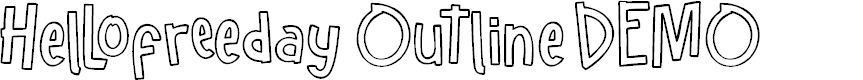Preview image for Hellofreeday Outline DEMO Font
