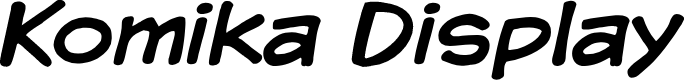 Preview image for Komika Display Font