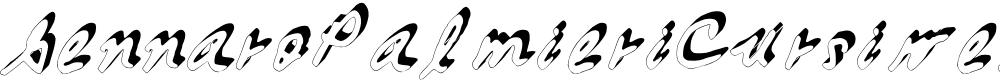 Preview image for GennaroPalmieriCursive_3D Medium Font