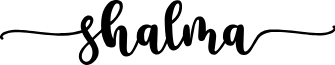 shalma font