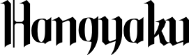 Preview image for Hangyaku Font