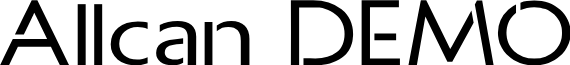 Allcan DEMO font