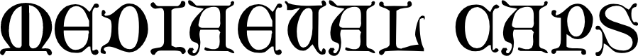 Preview image for Mediaeval Caps Font