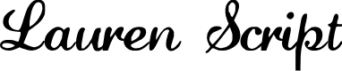 Preview image for LaurenScript Regular Font