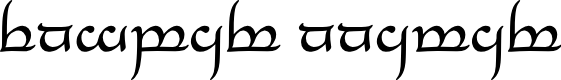 Preview image for Tengwar Annatar Font