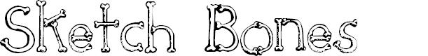 Preview image for SketchBones Font