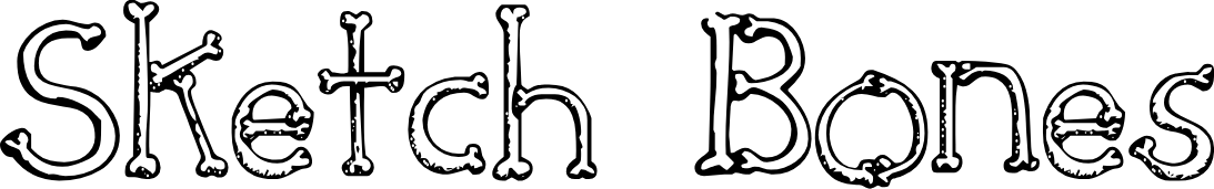 Sketch Bones Font Character Fontspace