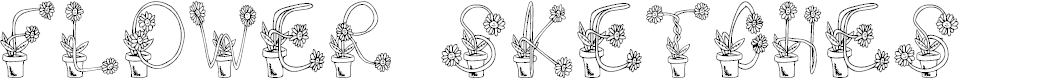 Preview image for FlowerSketches Font