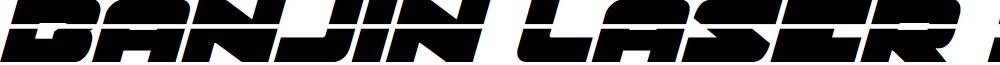 Banjin Laser Italic