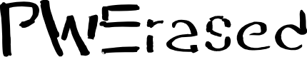 Preview image for PWErased Font