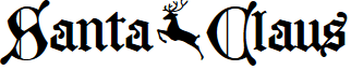 Santa Claus PERSONAL USE ONLY font