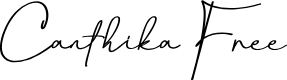 Preview image for Canthika Free Font