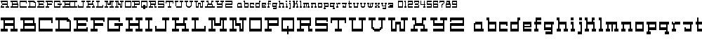 Preview image for Cask12bit Font