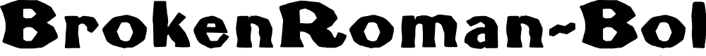Preview image for BrokenRoman-Bold Font