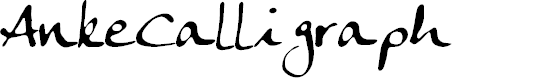 Preview image for AnkeCalligraph Font