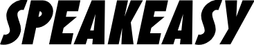 SF Speakeasy Oblique