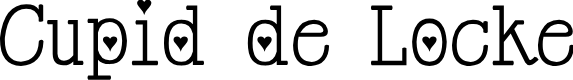 Preview image for Cupid de Locke Font