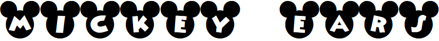 Preview image for Mickey Ears Font