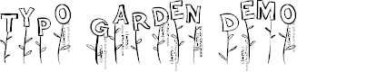 Preview image for Typo Garden Demo Font