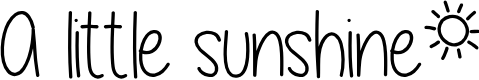 Preview image for A little sunshine Font
