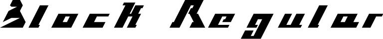 Preview image for Block Regular Font