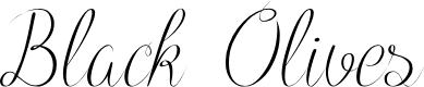 Preview image for Black Olives Font