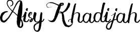 Aisy Khadijah font