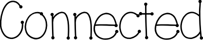 Preview image for Connected Font